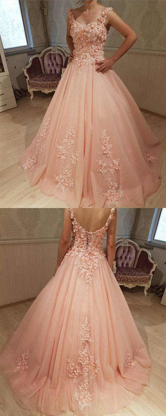 Chic Lace Flowers Embroidery Sweetheart Tulle Quinceanera Dresses Ball Gowns