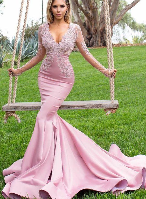 Sweep Train Mermaid Charmeuse Evening Dresses