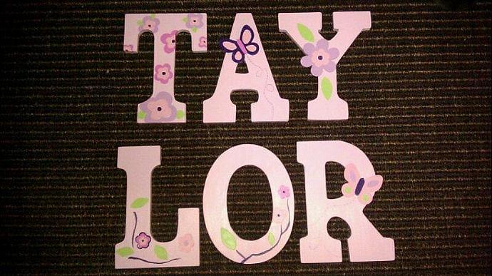 Custom Baby Girl Wooden Letters