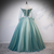 Pretty Green Tulle Long Dress, Green A Line Customize Strapless Evening Gown