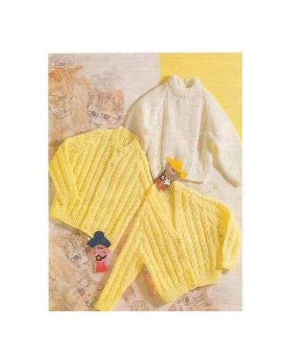 Instant PDF Digital Download Vintage Row by Row Knitting Pattern Babies Baby