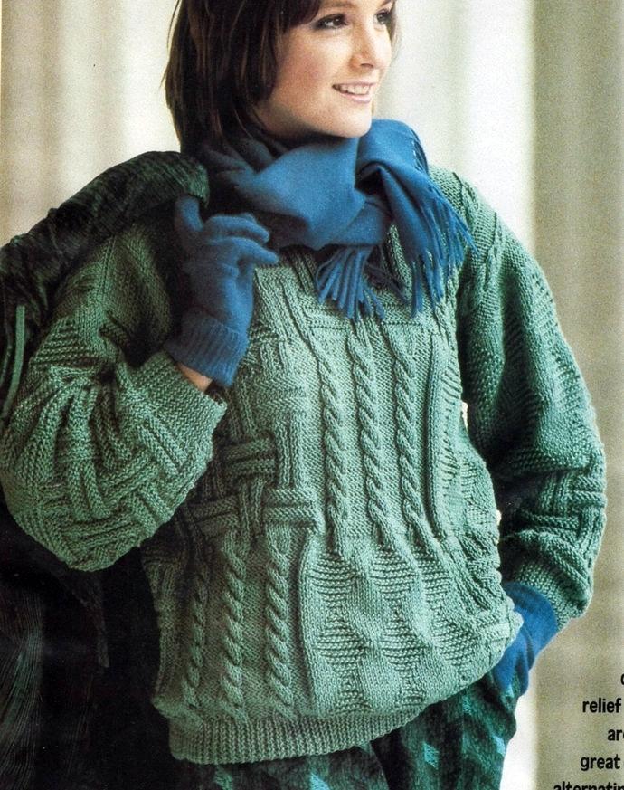 Instant PDF Digital Download Vintage Knitting Pattern Ladies Women's Oversize