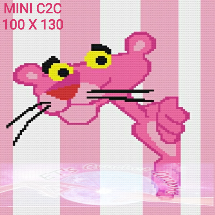Pink Panther Mini C2C 100x130 - includes graph with Color Chart
