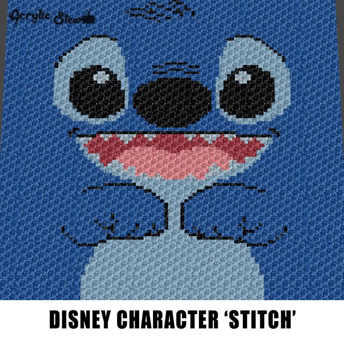 Stitch Face Disney Lilo and Stitch Movie Cartoon Character crochet graphgan