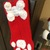Red and White Christmas Dog Stocking.
