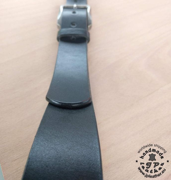 "Handmade fullgrain vegetable tanned cowhide leather belt 38mm (1.5"") / 3.5-4 mm"