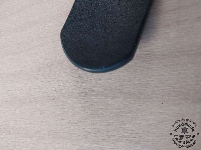 Handmade leather belt 38mm (1.5 In) / 3.5-4mm - black - Old brass buckle  -