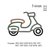 Motorcycle applique embroidery design ,Motor cycle embroidery pattern No 1033...