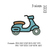 Motorcycle embroidery design ,Motor cycle filled embroidery pattern No 1032... 3