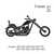 Classic motorcycle silhouette embroidery design ,Motor cycle silhouette