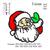 Santa claus Applique Embroidery Design, Santa embroidery pattern, christmas