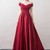 Red Prom Dress,Satin Prom Gown,Appliques Prom Dress,Off the Shoulder Wedding