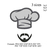 Chef Hat chef cap with mustache and beard applique embroidery design,Kitchen hat