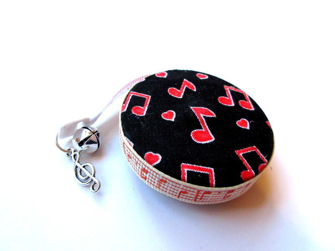 Measuring Tape Red Music Notes Small Retractable Tape Measure