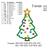 Christmas Tree Applique embroidery design, Christmas Tree Applique embroidery