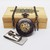 Men's Pocket Watch with Money Clip Owl Black and Bronze Gift Set in Wood Box -