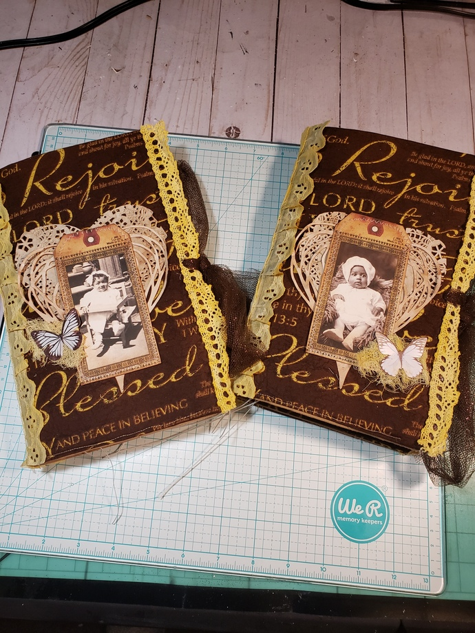 "Soft Cover 9x12 Faith Junk Journal ""Rejoice"""