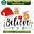 Believe svg, believe long sleeve, christmas long sleeve, santa hat svg,custom