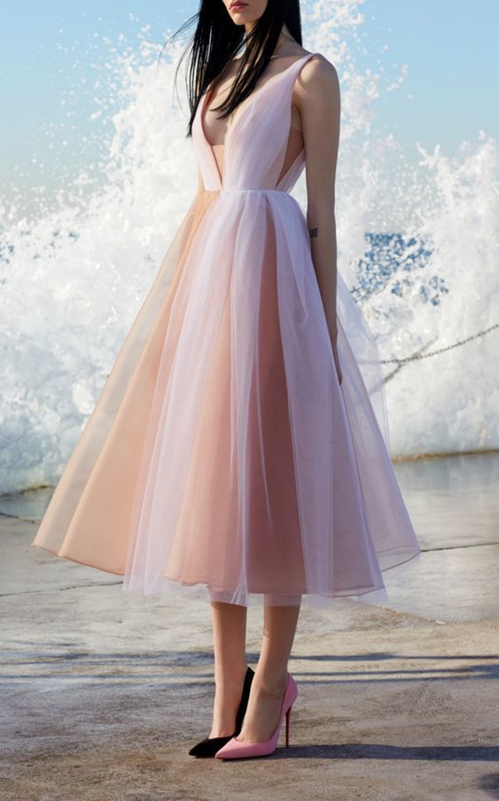Formal Dresses a line Evening Dresses,Layered Tulle Evening Dresses Long
