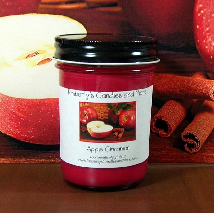 Apple Cinnamon PURE SOY Jelly Jar Candle