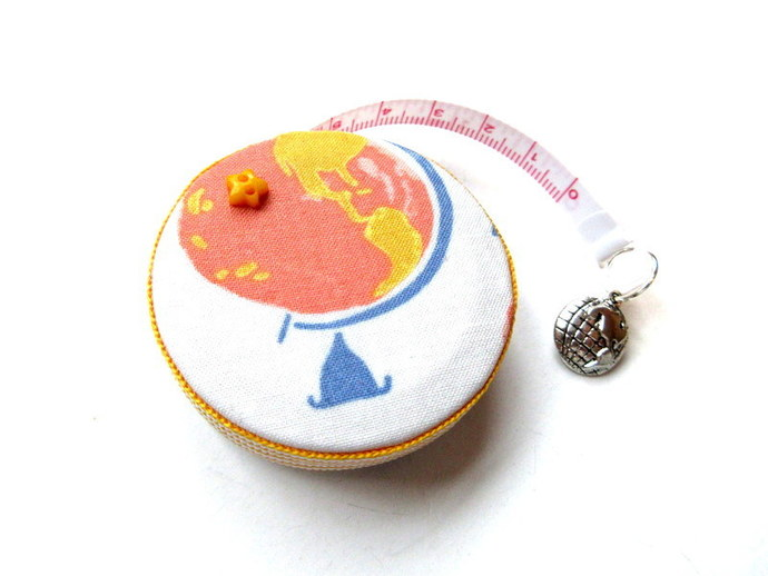 Measuring Tape World Globes Small Retractable Tape Measure