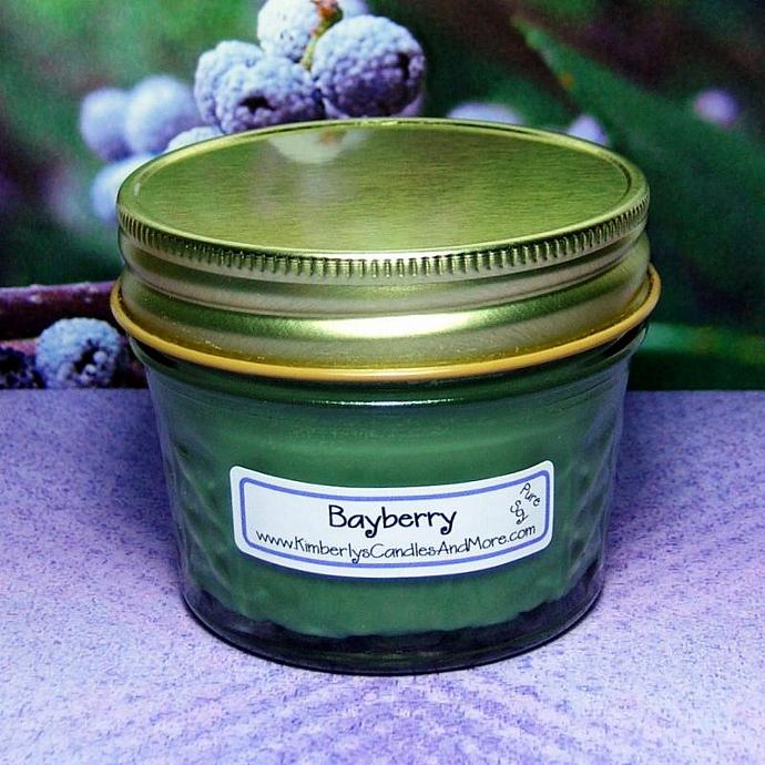 Bayberry PURE SOY 4 oz. Jelly Jar Candle