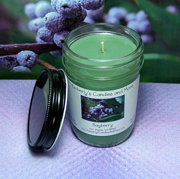 Bayberry PURE SOY Jelly Jar Candle