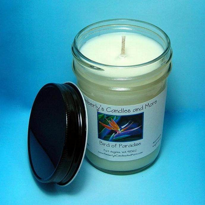 Bird of Paradise PURE SOY Jelly Jar Candle