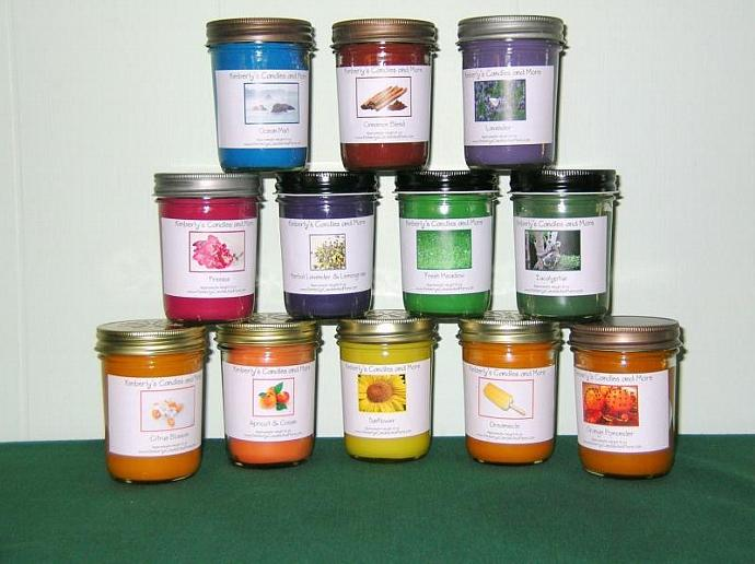 CHOOSE ANY THREE  8 oz Jelly Jar Soy Candles SAVE SAVE SAVE 20.00  - PICK YOUR