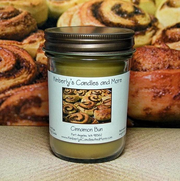 Cinnamon Bun PURE SOY Jelly Jar Candle
