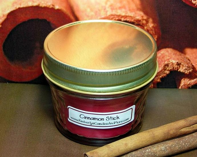 Cinnamon Stick PURE SOY 4 oz. Jelly Jar Candle