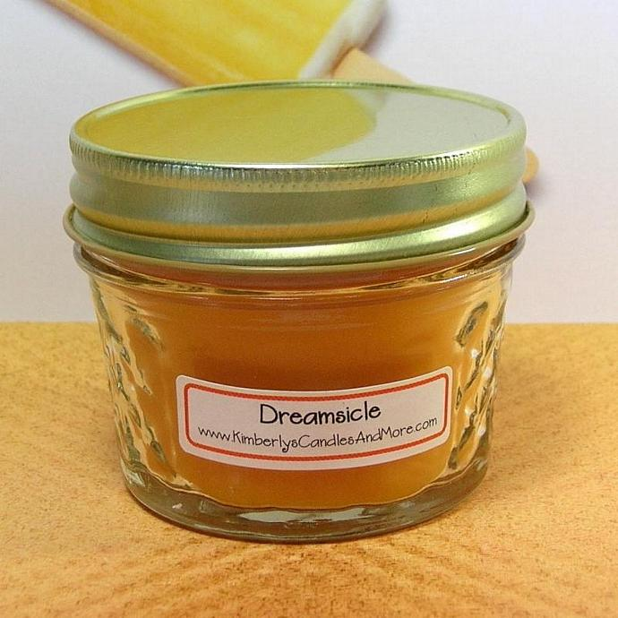 Dreamsicle PURE SOY 4 oz Jelly Jar Candle