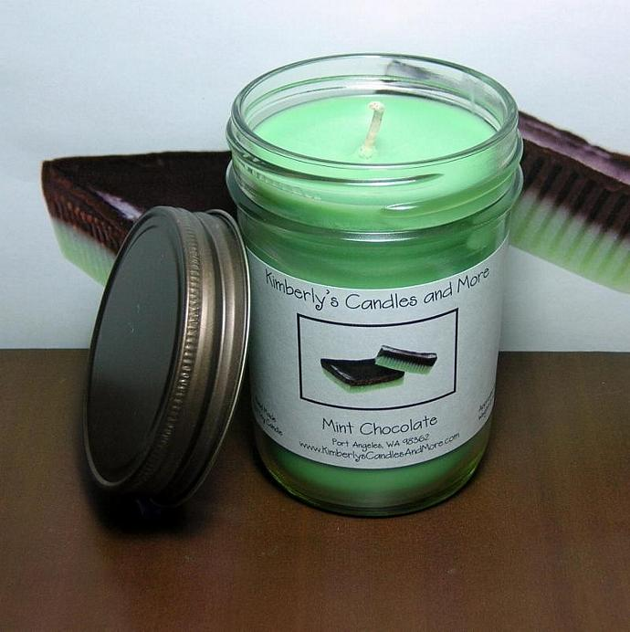 Mint Chocolate PURE SOY Jelly Jar Candle