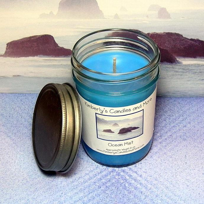 Ocean Mist PURE SOY Jelly Jar Candle