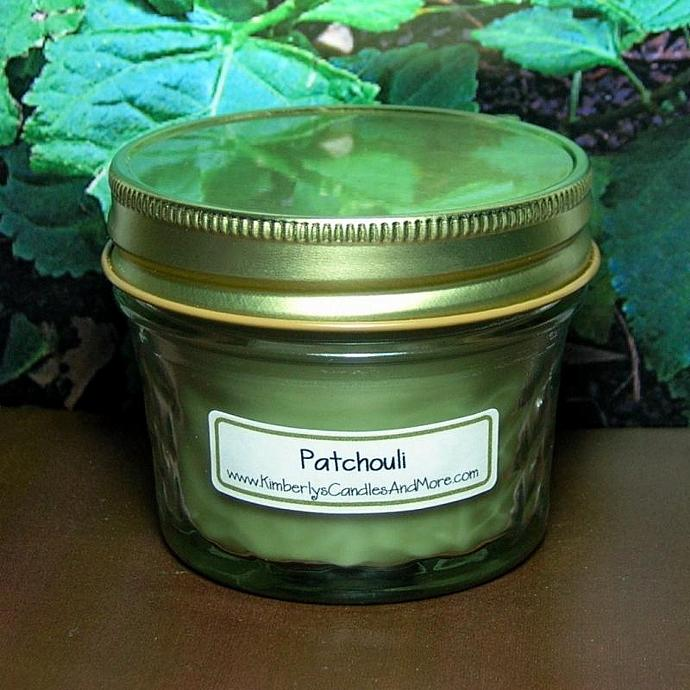 Patchouli  PURE SOY 4 oz Jelly Jar Candle