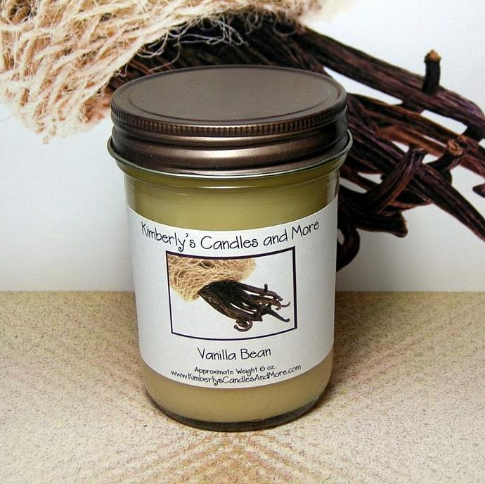 Vanilla Bean PURE SOY Jelly Jar Candle