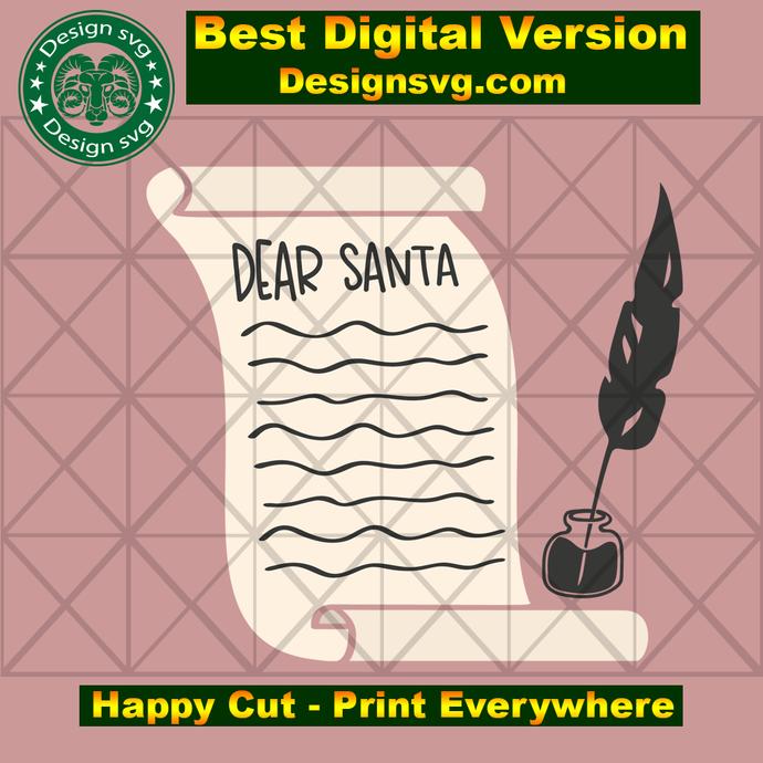 Dear santa, christmas day gift,santa claus gift, santa svg, christmas svg, Xmas
