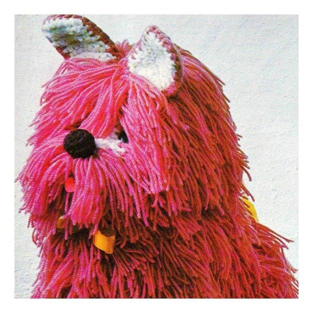"Instant PDF Digital Download  Vintage Crochet Pattern 12"" Shaggy Dog/Puppy"