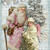 Santa and Snow Angel Digital Collage Greeting Card2530