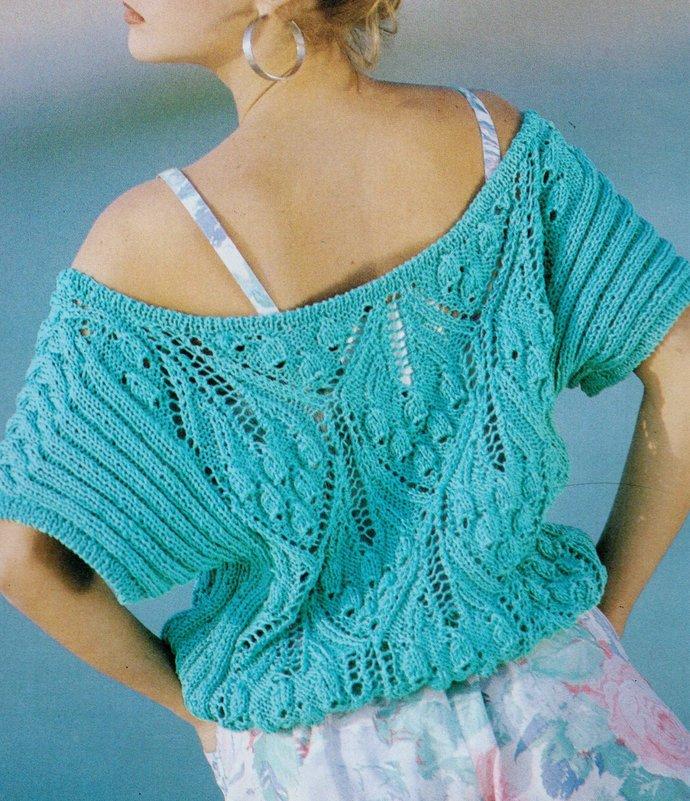 Instant Digital Download PDF Vintage Chart Knitting Pattern Ladies Loose Fitting