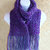 Winter Scarf, crocheted in Blue Plum Tweed double-thick and soft yarn