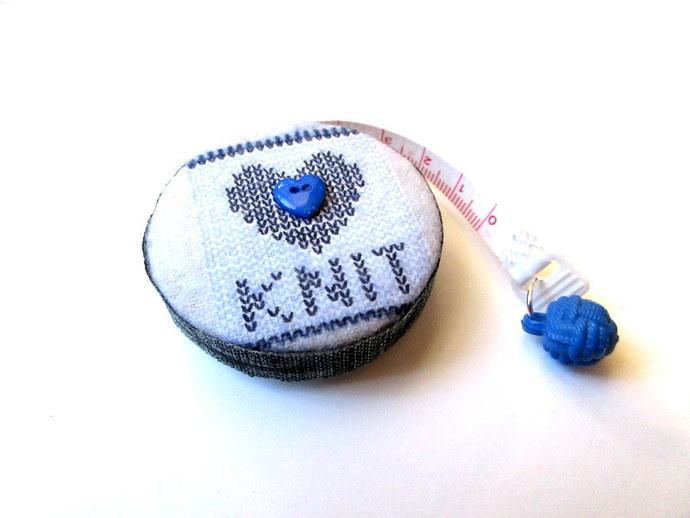 Tape Measure Knitting Theme Small Retractable Measuring Tape