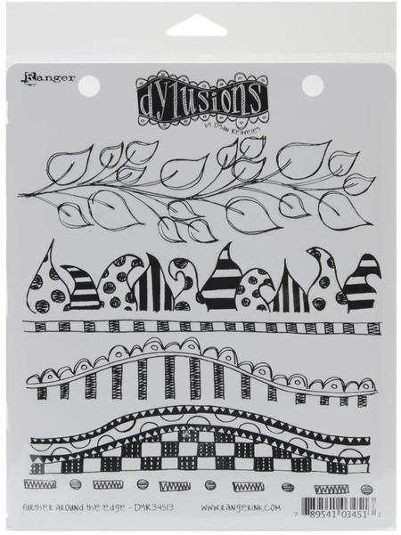 Six Sets Of Dylusions Cling Stamps