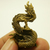 Chinese Dragon mini brass statue doll figurine talisman powerful strong life