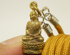 Poo Chuchok Thai brass real amulet pendant Buddha enemy talisman blessed for wealth good luck success money rich Thailand nice lucky gift