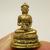 Tiny Phra Buakhem upakoot mini statue figurine doll Lotus Buddha brass amulet