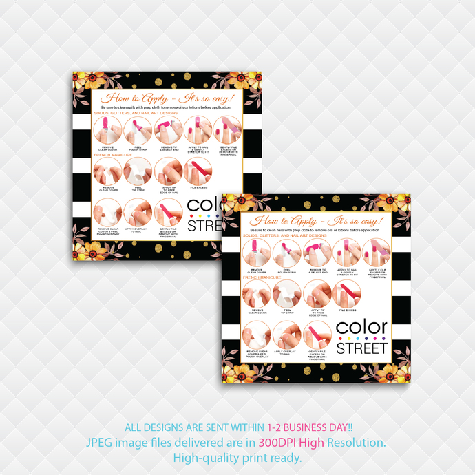 Color Street Application Cards, Color Street Square Business Cards, How to Apply