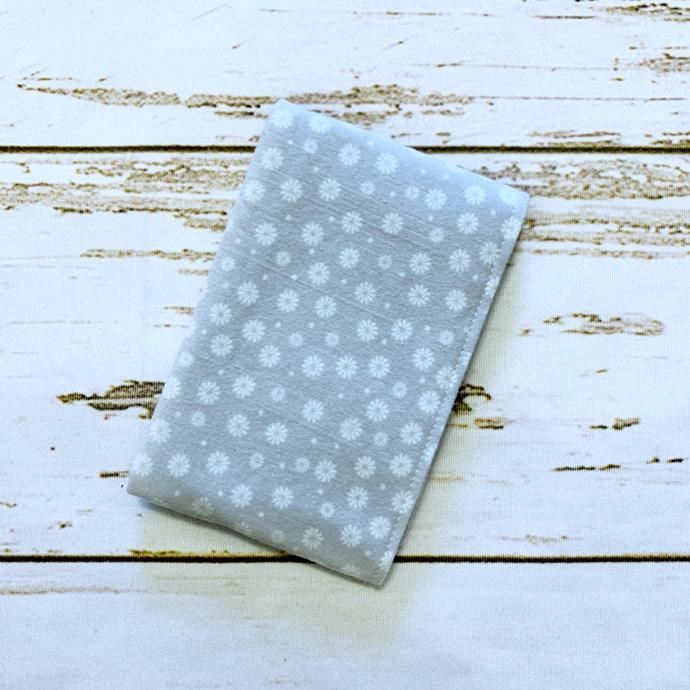Floral Dot Gray Burp Cloth