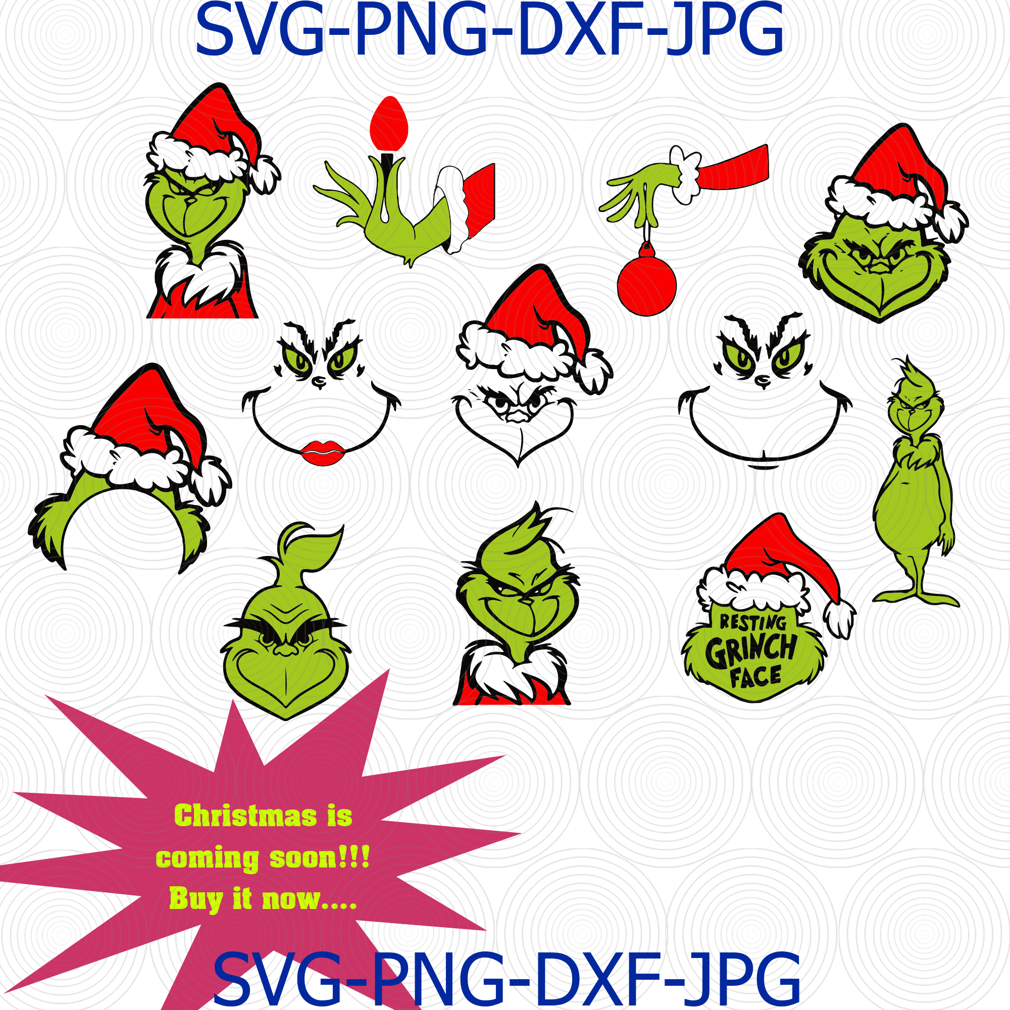 Download Grinch Svg, Grinch Bundle Svg, Christmas Svg, by Digital4U ...