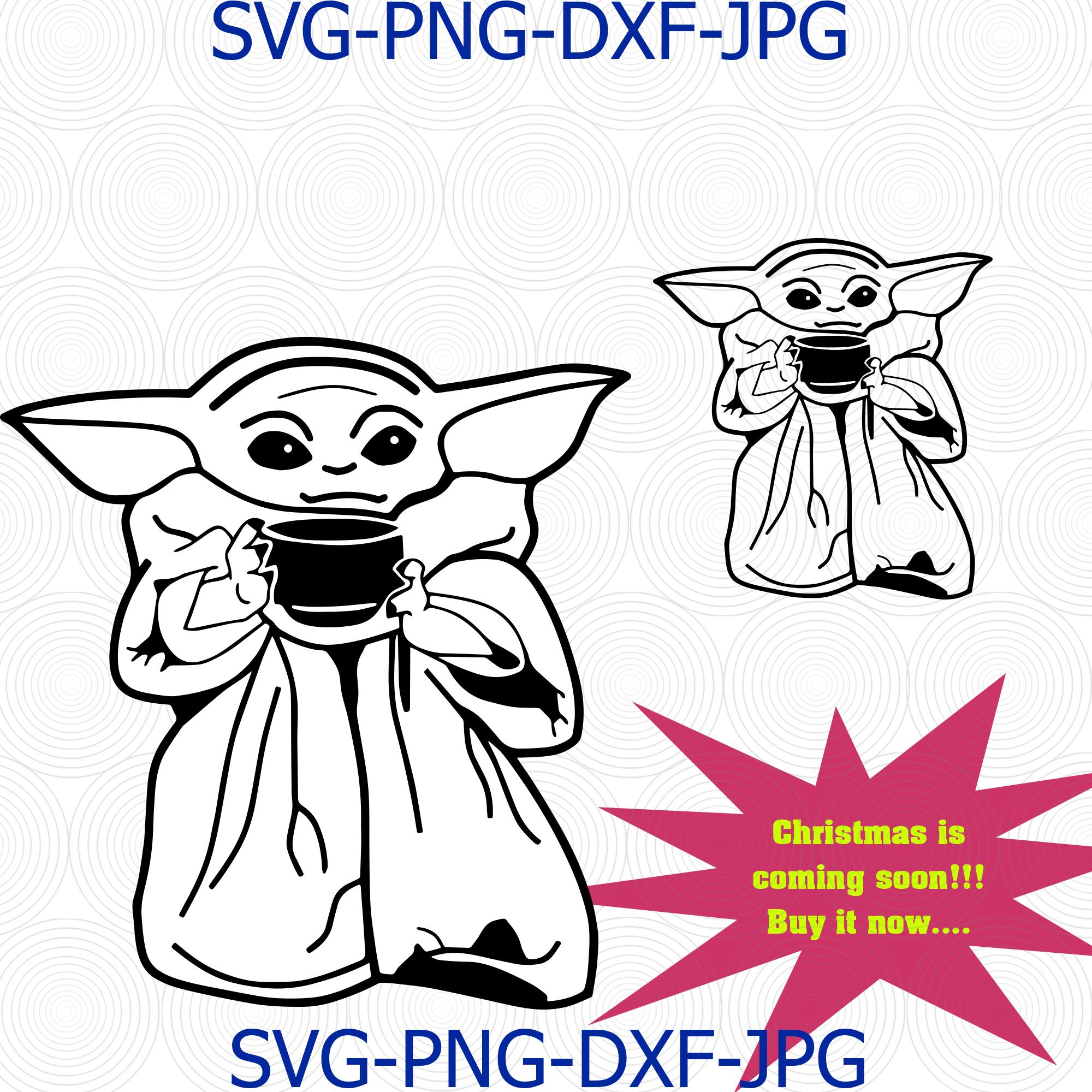 Baby Yoda Soup Star Wars The Mandalorian Boba By Digital4u On Zibbet